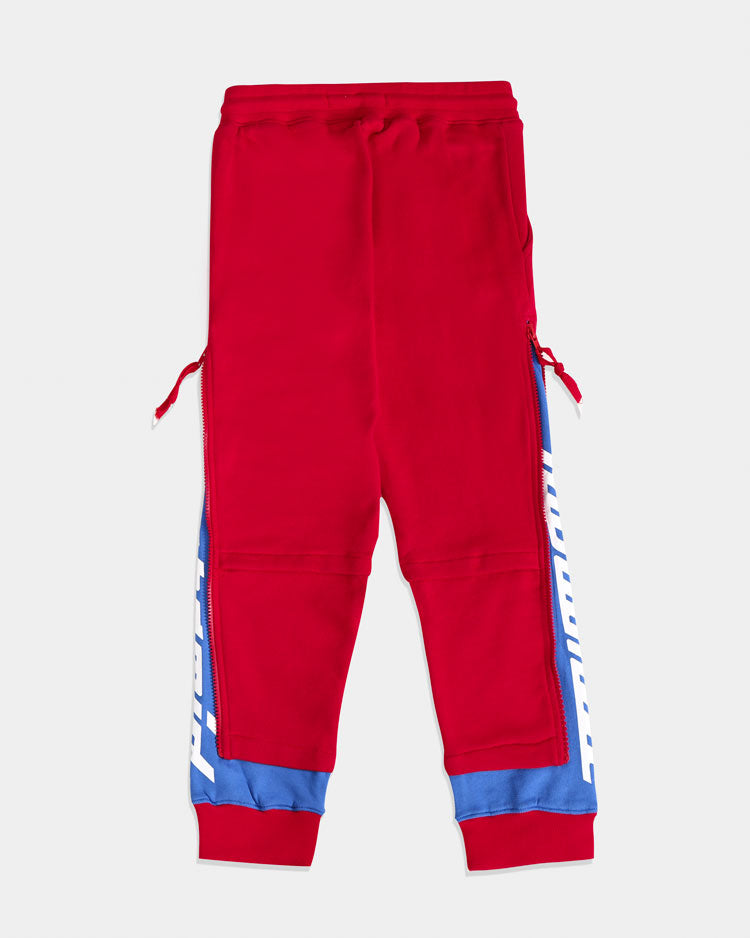 KIDS LAYERED ZIP PANTS