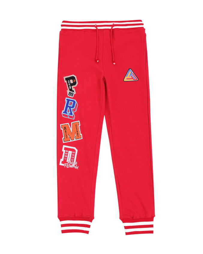 Kids Varsity Collection Pants-color: red