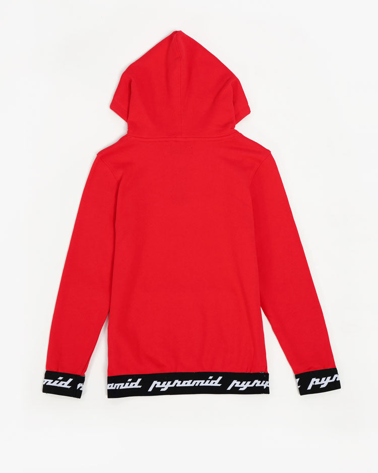KIDS CORE 3D RUBBER PATCH HOODY-COLOR: RED