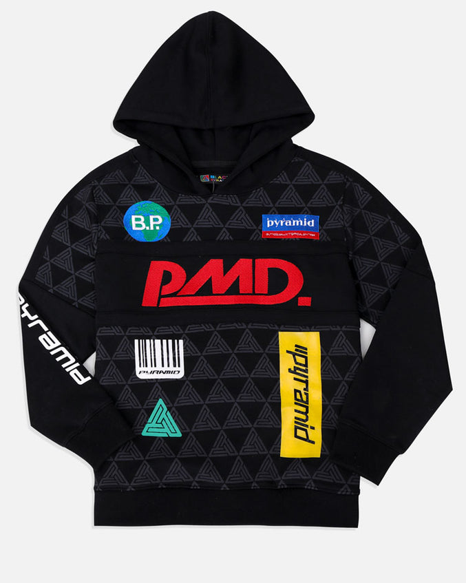 KIDS GRAND PRIX HOODY-COLOR: BLACK