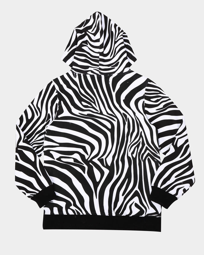 KIDS PRIMAL ANIMAL HOODY-COLOR: WHITE