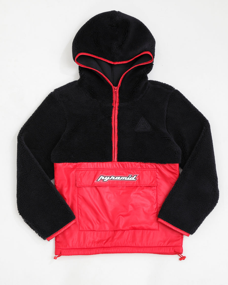 Kids Pull Over Mixed Nylon Hoody