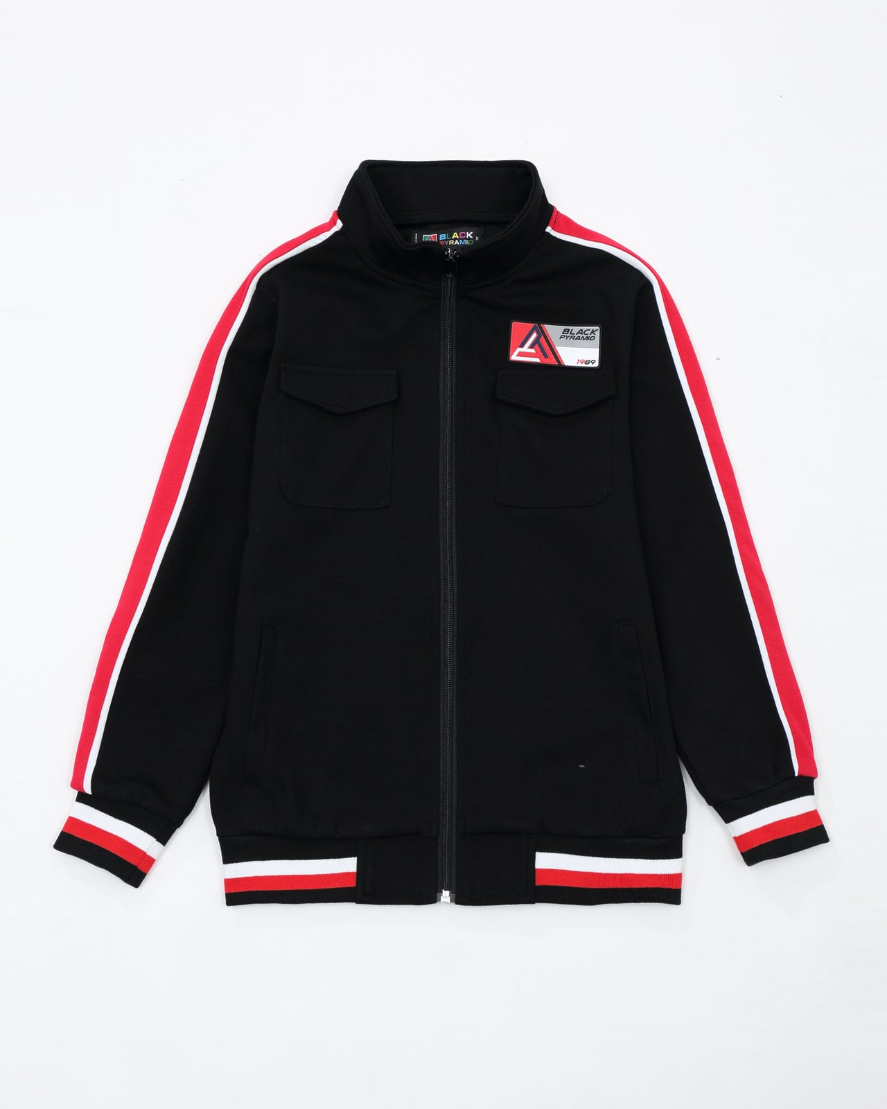 BP Rubber Patch Track Jacket - Color: BLACK