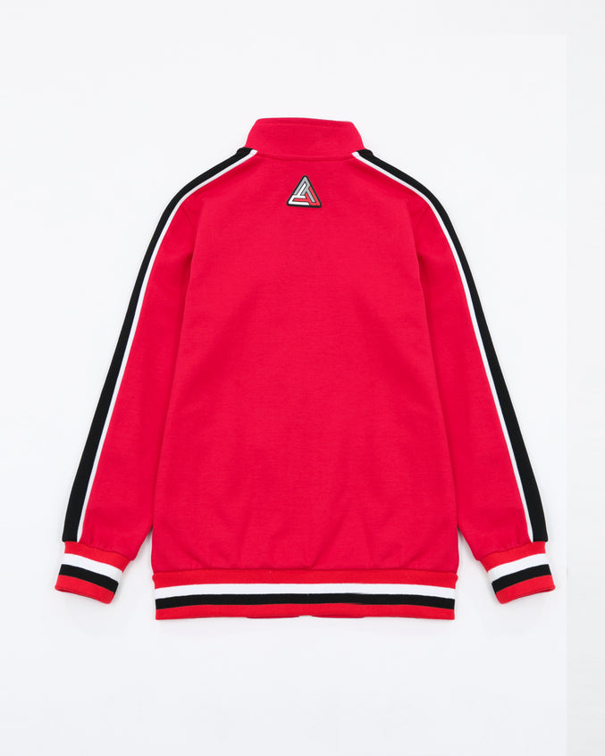 BP Rubber Patch Track Jacket - Color: RED