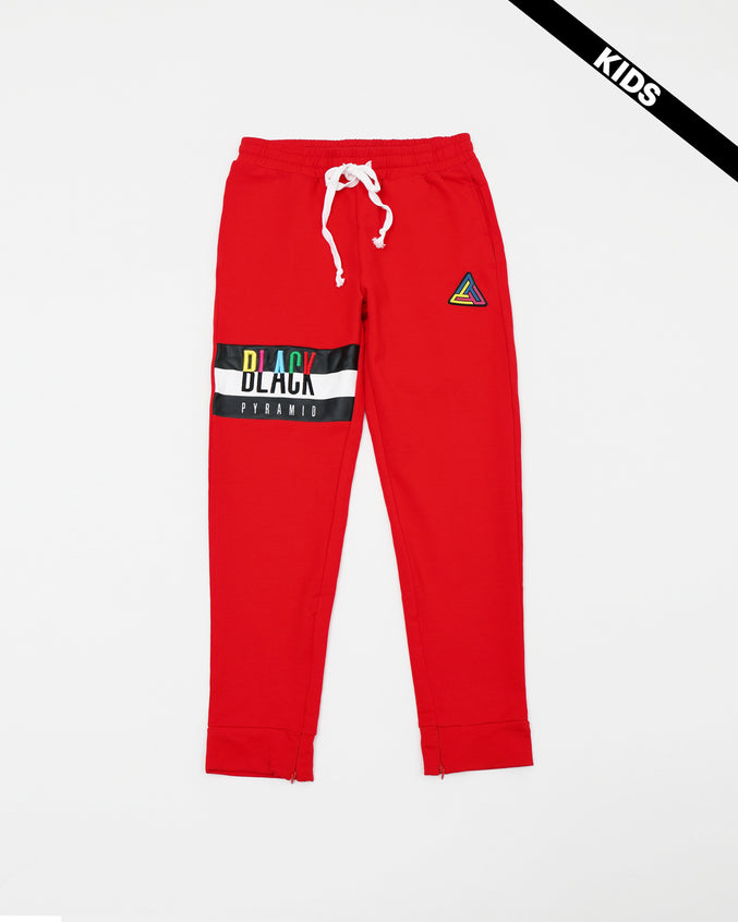 Black Pyramid Kids Pants - Color: Red