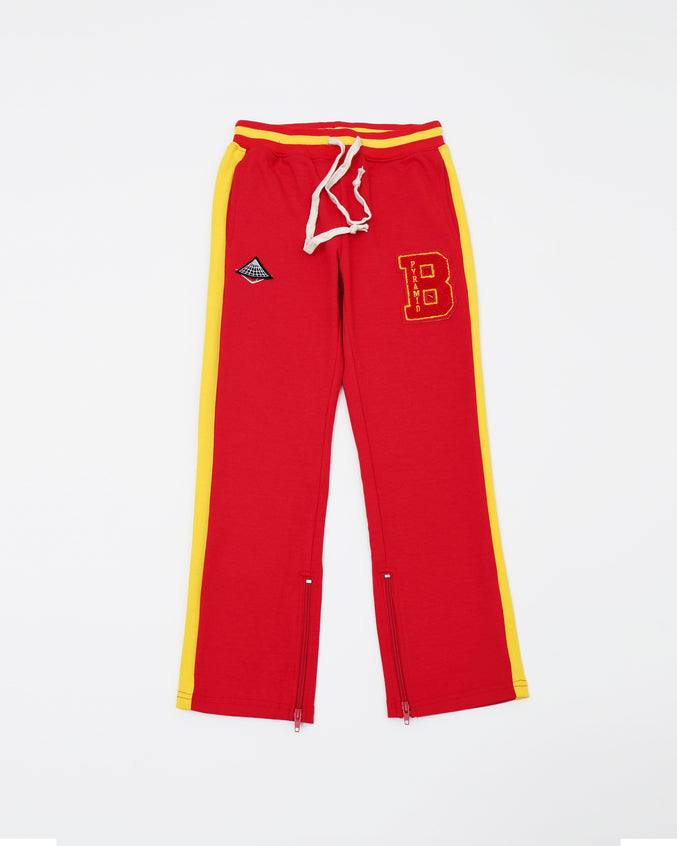 B Pyramid Kids Pants - Color: Red