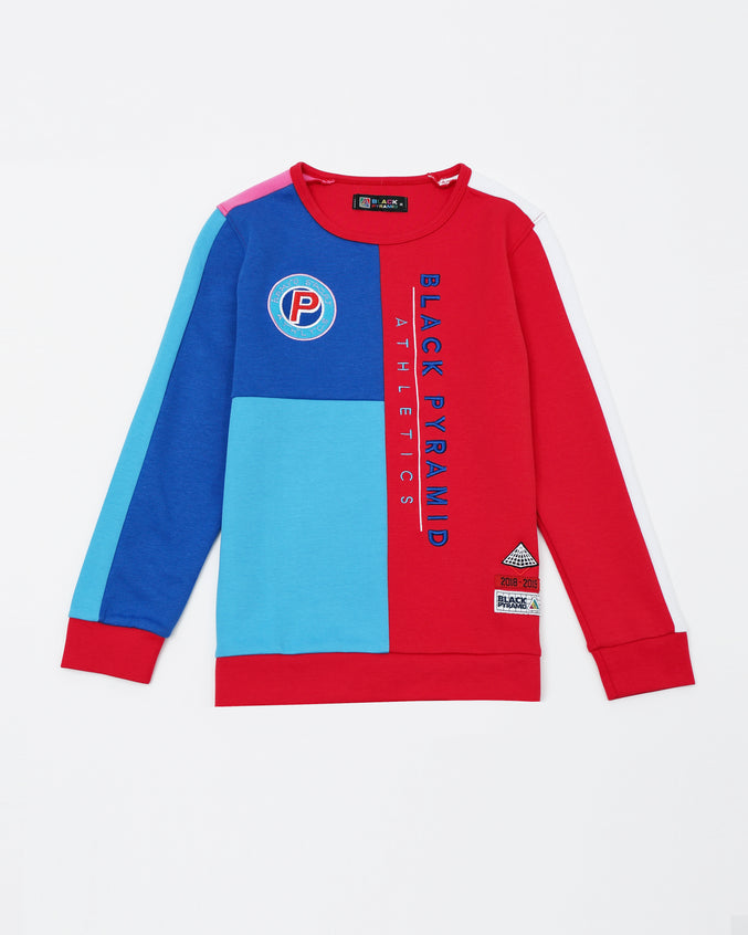 BP Athletic Color Kids Sweatshirt - Color: Red