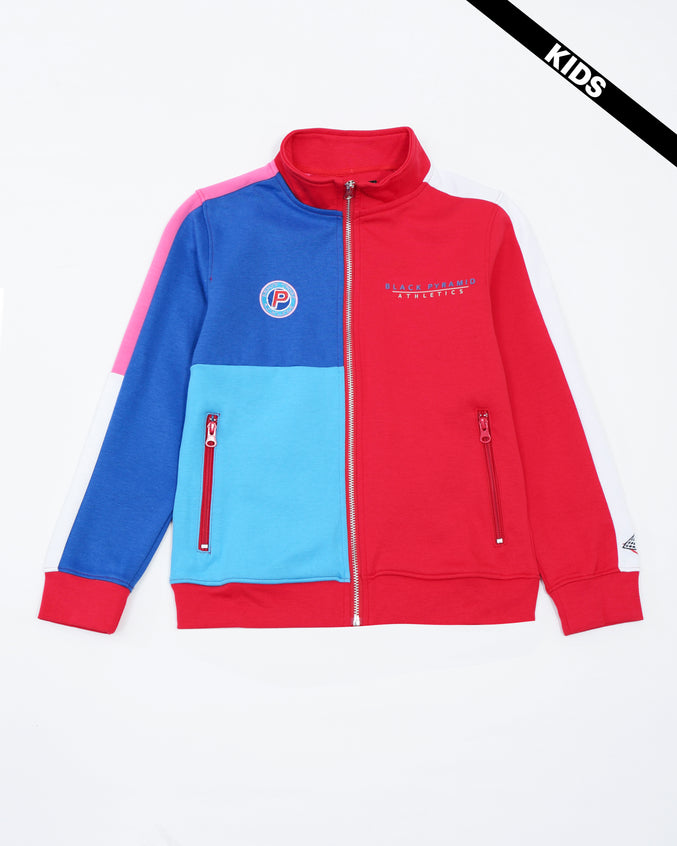 BP Athletic Color Kids Track Jacket - Color: Red