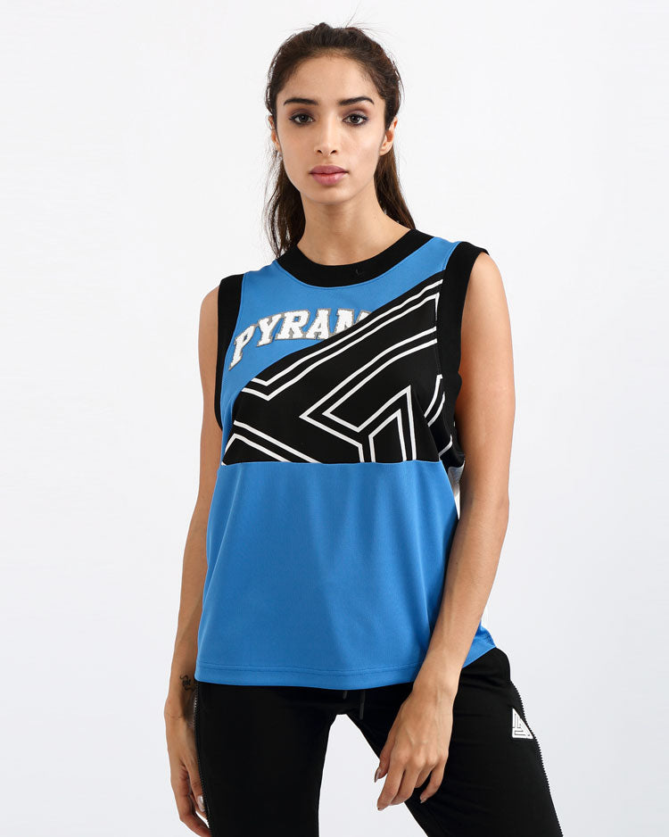 WOMENS B BALL MASH MUSCLE TEE