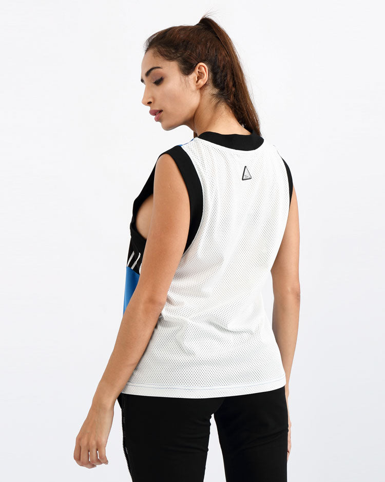 WOMENS B BALL MASH MUSCLE TEE-COLOR: BLACK