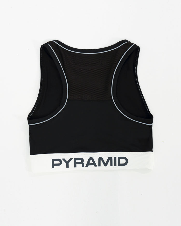 WOMENS REFLECTIVE SPORTS BRA-COLOR:BLACK