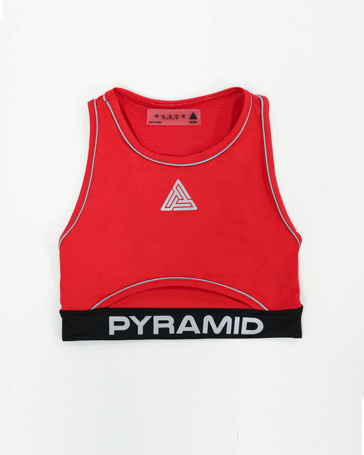 WOMENS REFLECTIVE SPORTS BRA-COLOR: RED