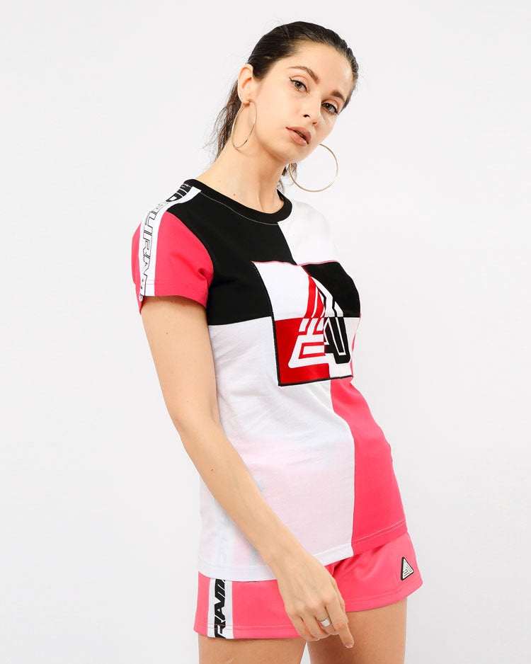 WOMENS MATRIX SHORT SLEEVE TEE-COLOR: PINK