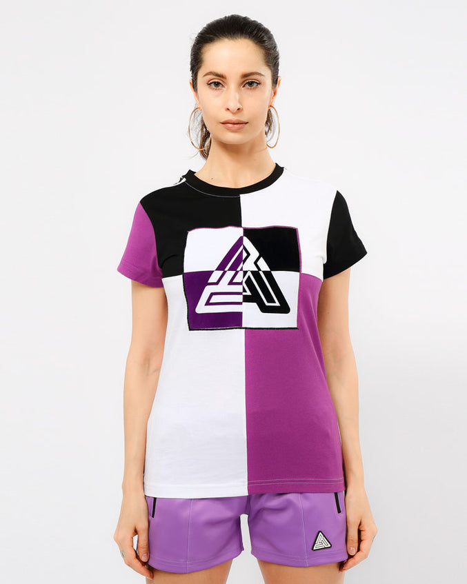 WOMENS MATRIX SHORT SLEEVE TEE-COLOR: PURPLE