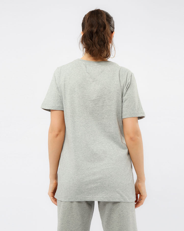 WOMEN CORE 3D RUBBER PATCHSHIRT-COLOR: HEATHER GRAY