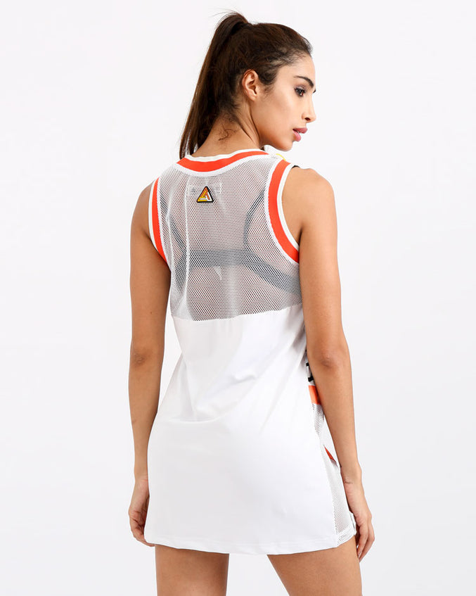 WOMENS FASTWAY DRESS-COLOR: WHITE