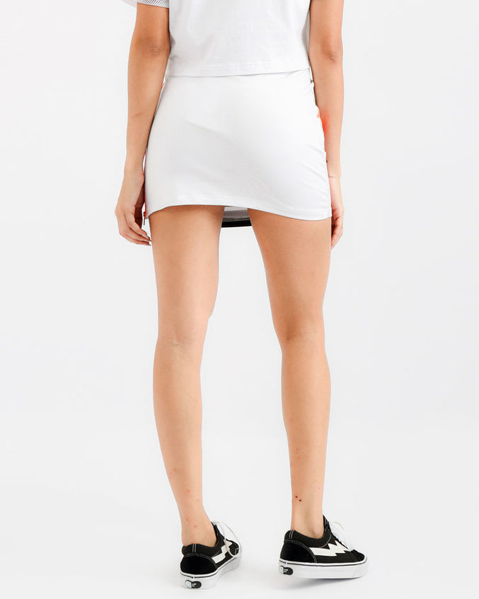 WOMENS FASTWAY SIDE ZIP SKIRT-COLOR: WHITE