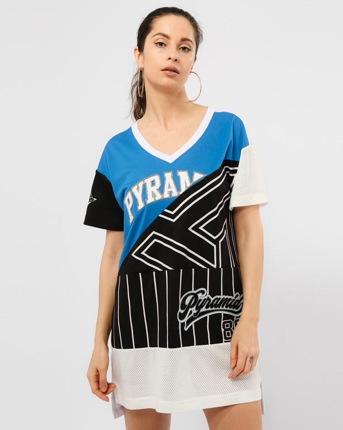 WOMENS B BALL MASH TEE DRESS-COLOR: BLACK