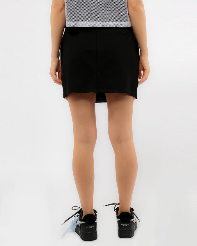 WOMENS USA REFLECTIVE SPORT SKIRT-COLOR: BLACK