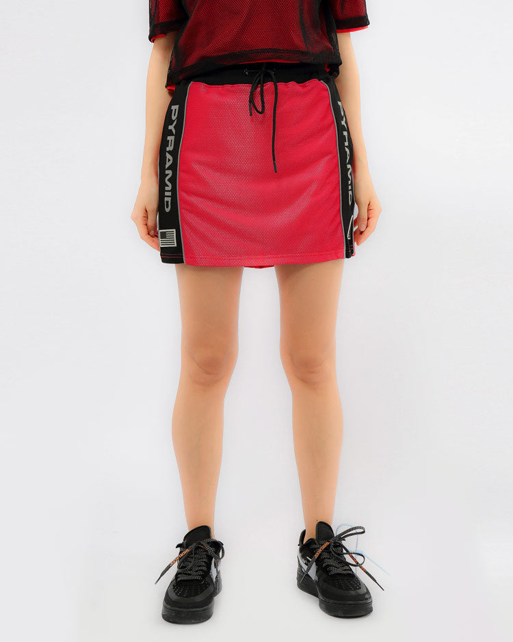WOMENS USA REFLECTIVE SPORT SKIRT-COLOR: RED