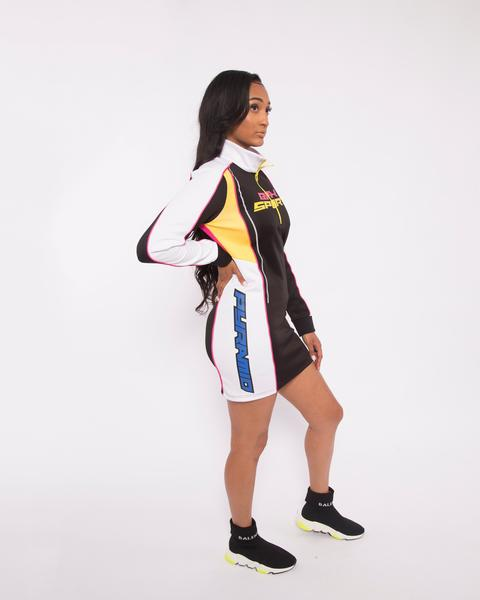 WOMEN BPX SPORT TRACK DRESS-COLOR: MULTI COLOR
