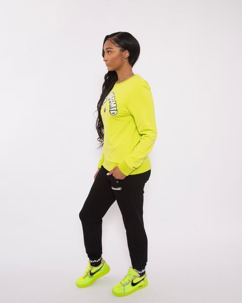 WOMEN THE BIG OG DRIP CREWNECK-COLOR: GREEN