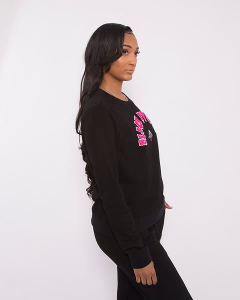 WOMEN THE BIG OG DRIP CREWNECK-COLOR: BLACK