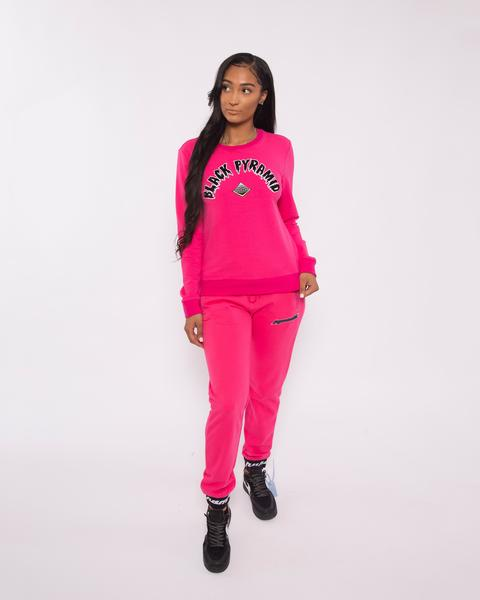 WOMEN THE BIG OG DRIP CREWNECK-COLOR: PINK