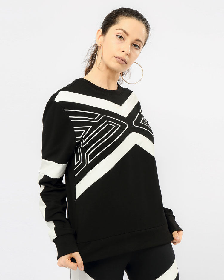 WOMEN MAZE CREWNECK TOP