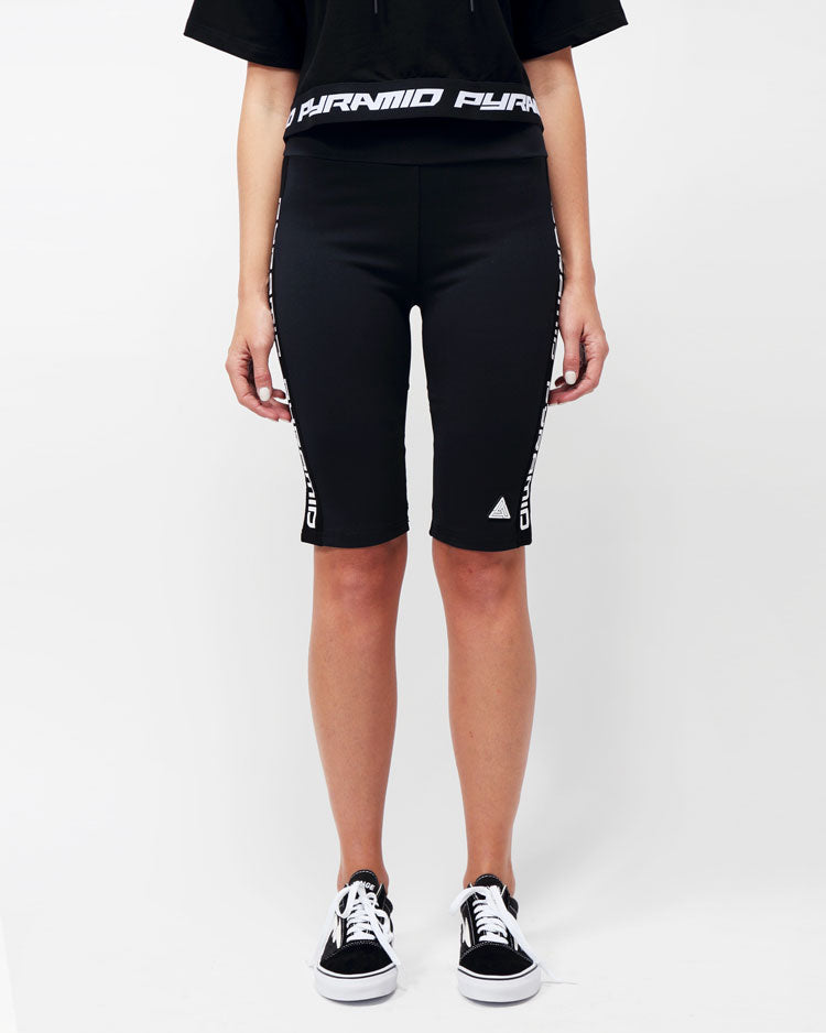 WOMENS SIDE LOGO TAPE BIKER SHORT