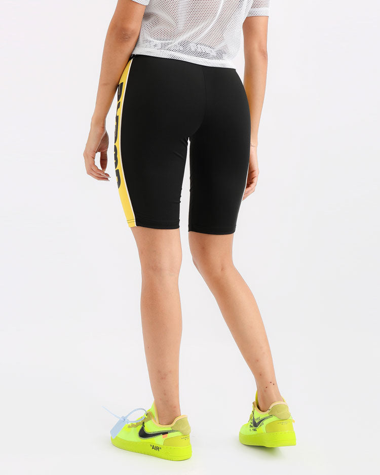 WOMENS PYRMD BIKER SHORT-COLOR: BLACK