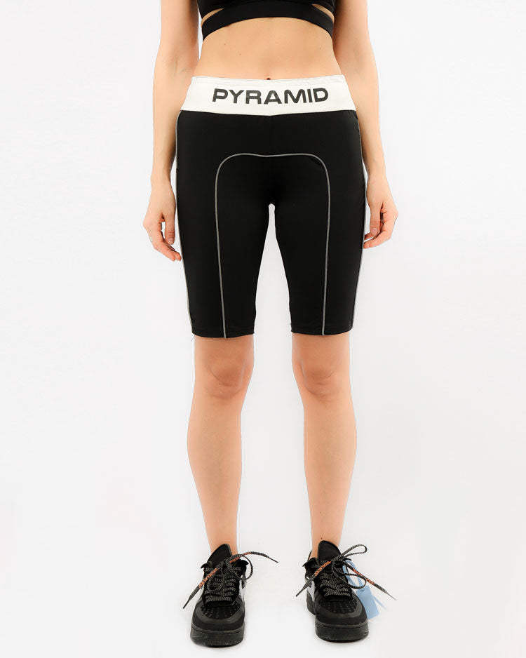 WOMENS REFLECTIVE BIKER SHORTS