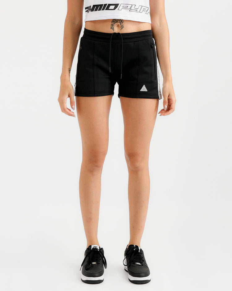 WOMENS TAPED TRACK SHORT-COLOR: BLACK