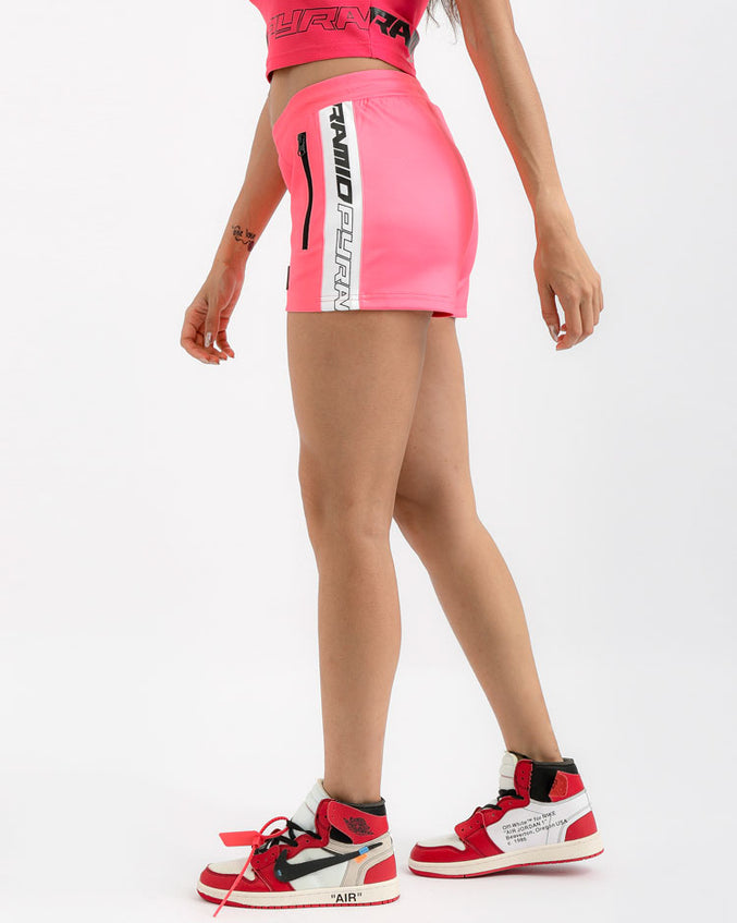 WOMENS TAPED TRACK SHORT-COLOR: PINK