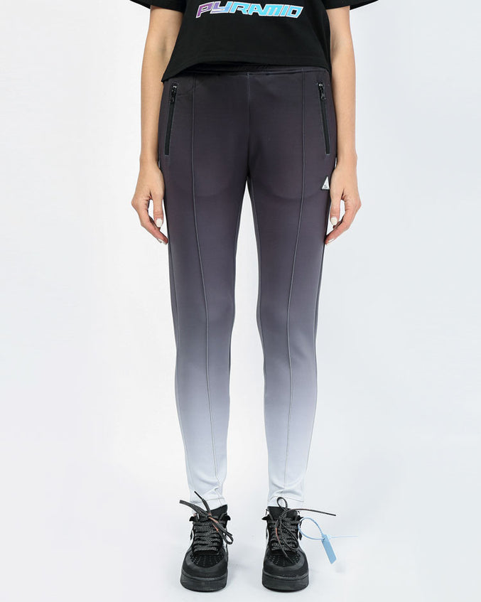 WOMENS OMBRE REFLECTIVE TRACK PANT-COLOR: BLACK
