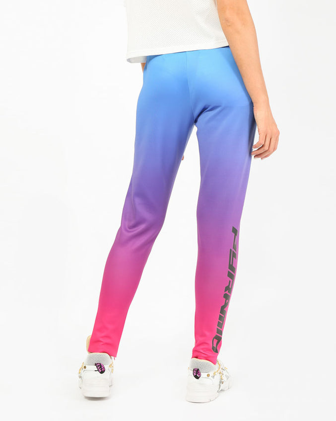 WOMENS OMBRE REFLECTIVE TRACK PANT-COLOR: LT BLUE
