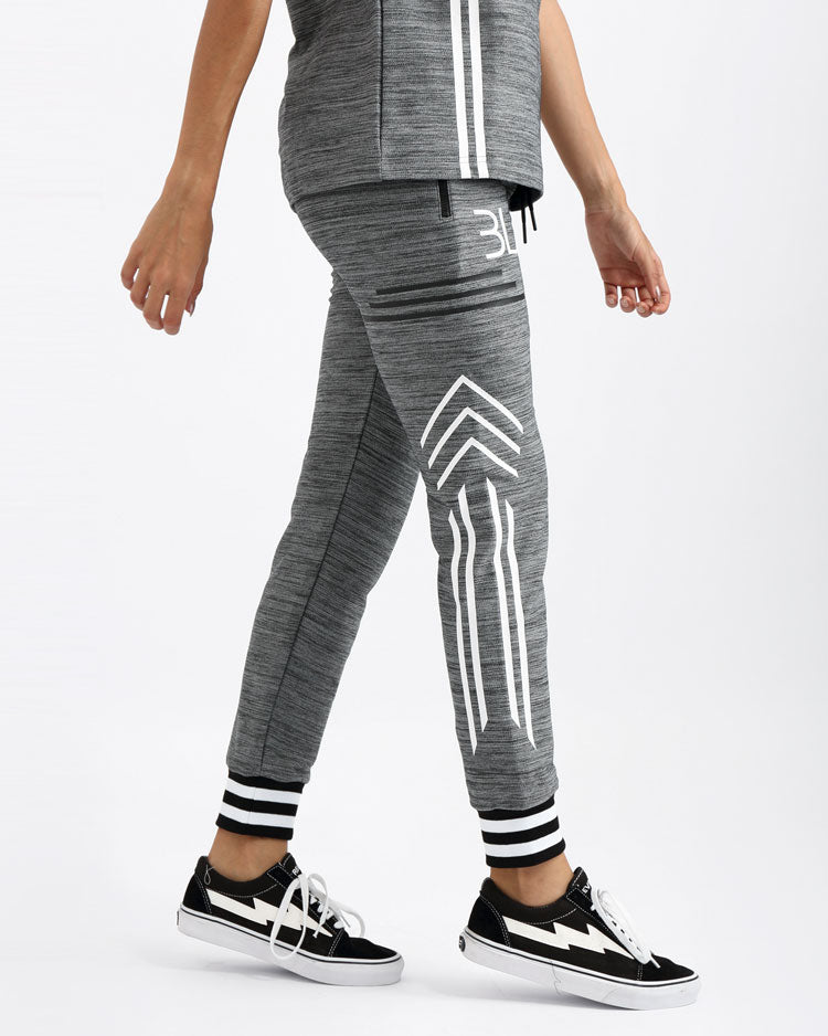 WOMENS BLACK CYBER SLIM JOGGER PANT-COLOR: BLACK