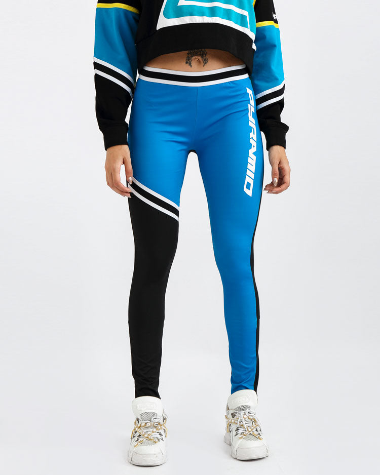 WOMENS MOTO COLORBLOCK LEGGINGS-COLOR: BLUE