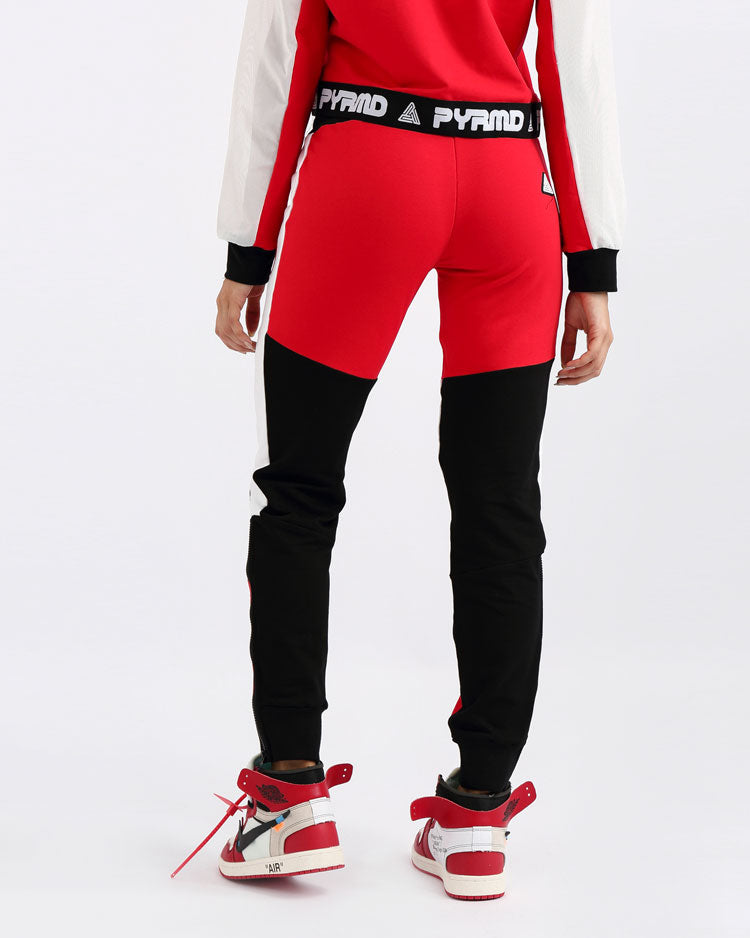 WOMENS PYRMD SLIM JOGGER PANT-COLOR: RED