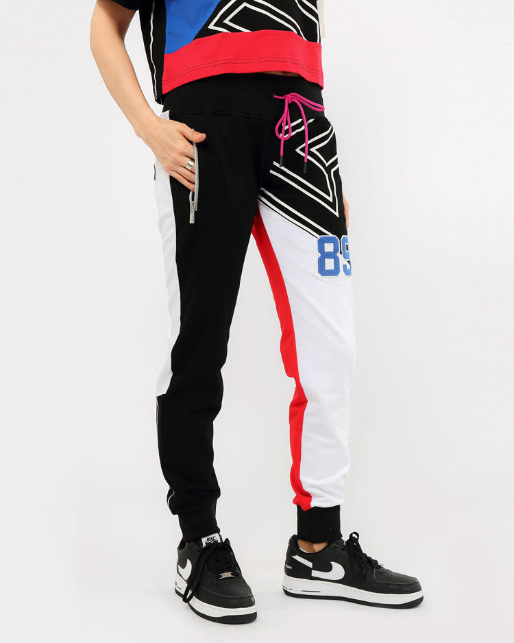 WOMENS B BALL MASH JOGGERS-COLOR: BLACK