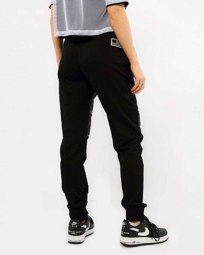 WOMENS REFLECTIVE JOGGER PANT-COLOR: BLACK