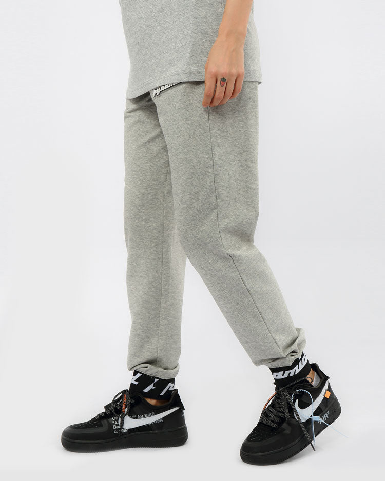 WOMEN CORE 3D RUBBER PATCH JOGGERS-COLOR: HEATHER GRAY