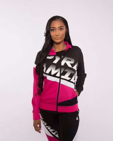 WOMEN PYRAMID RACEWAY COLORBLOCK TRACK JACKET