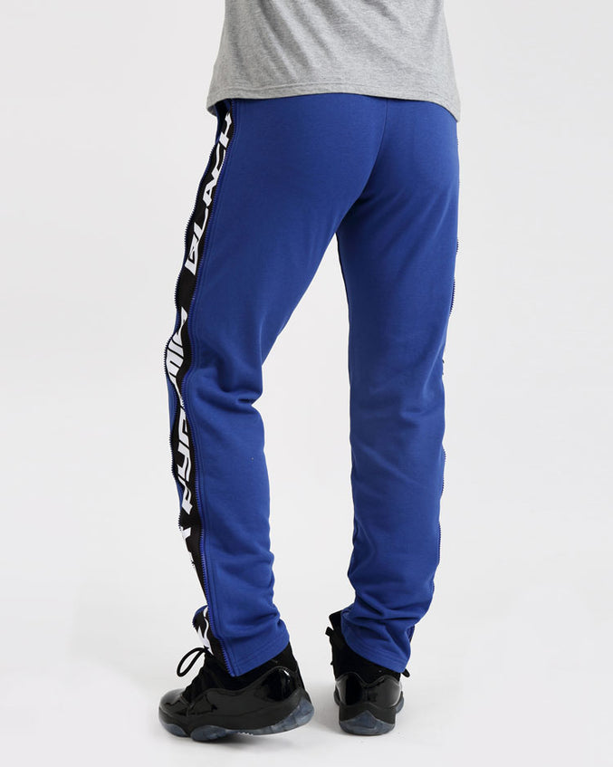 ZIP PANEL PANTS-COLOR: ROYAL BLUE
