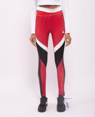 WOMENS BP MIXED MESH STRECTH PU LEGGINGS