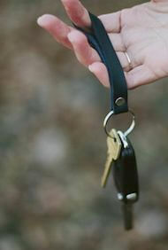 Addis Leather Keychain
