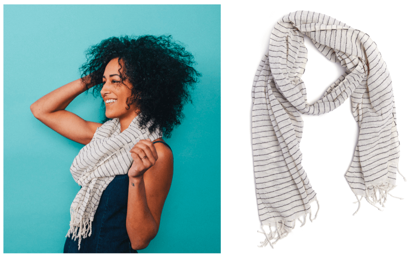 Striped Scarf - FASHIONABLE