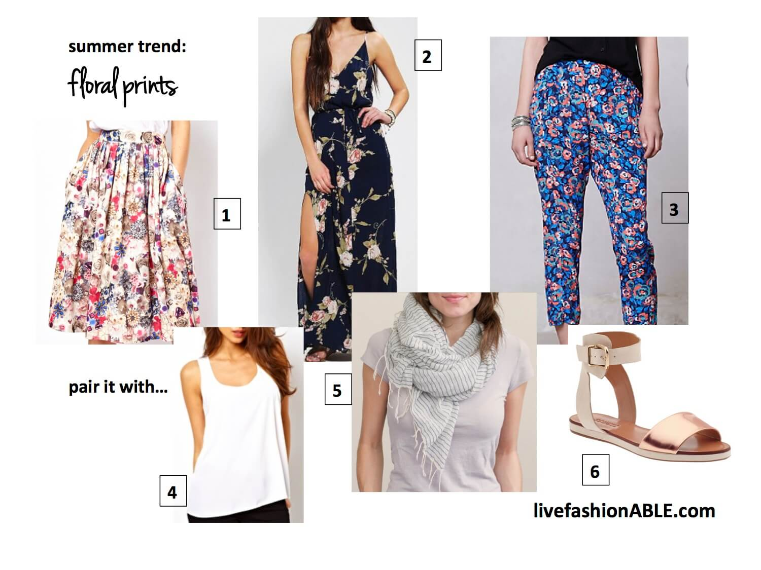 fashionABLE summer trends: Floral Prints