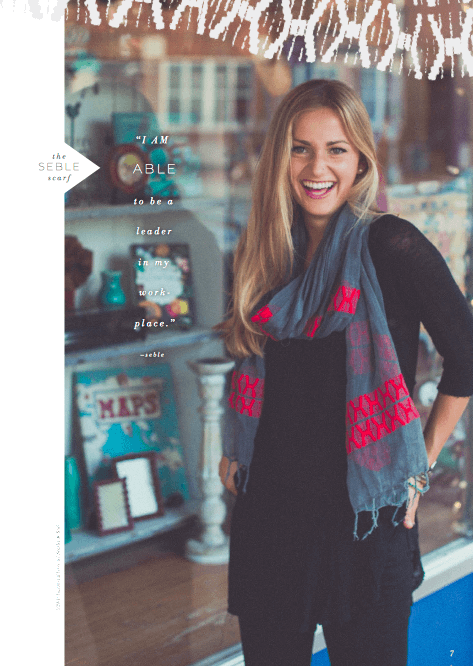 the Seble scarf | livefashionABLE.com