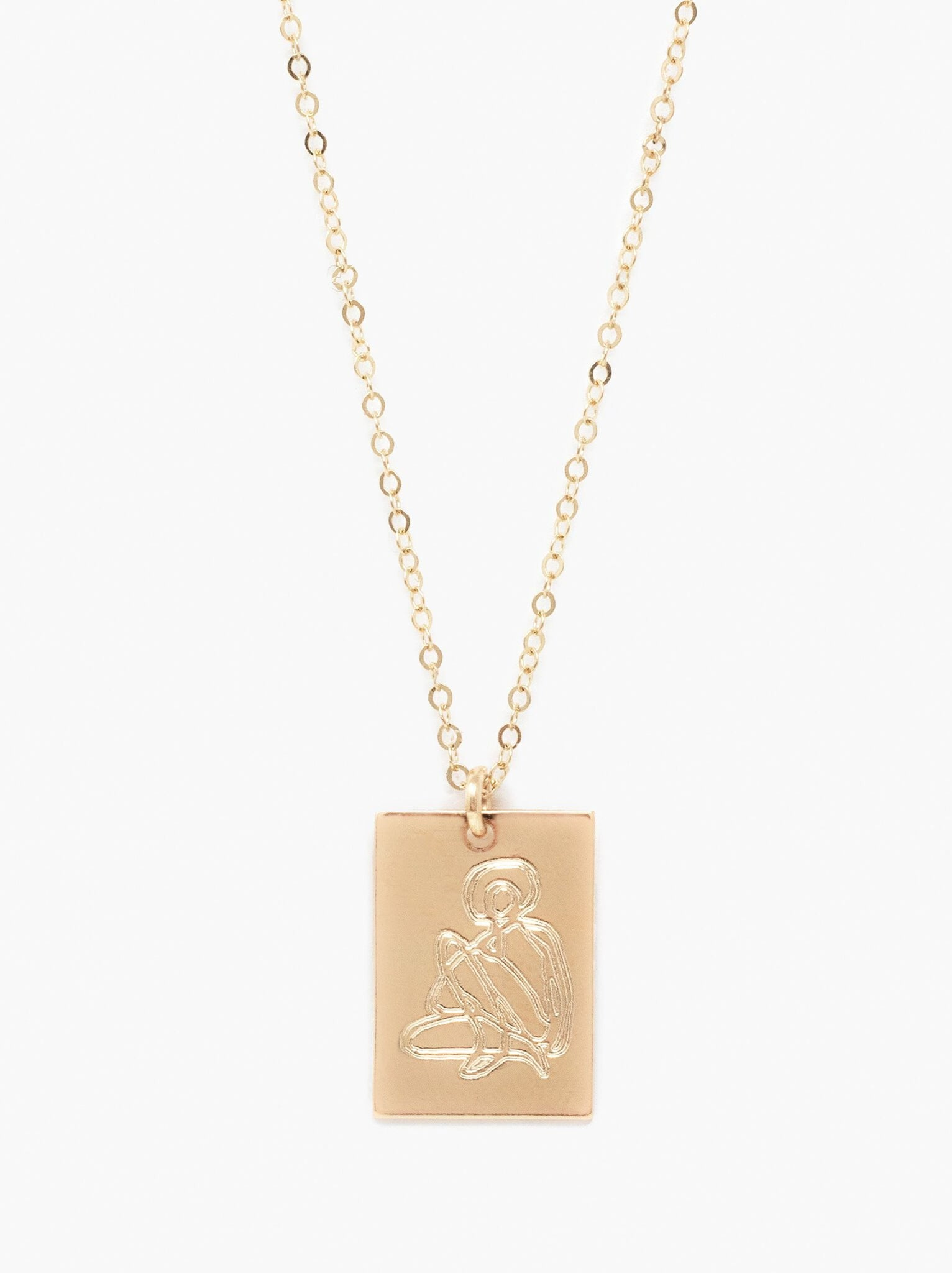 She's Worth More Portrait Tag Necklace